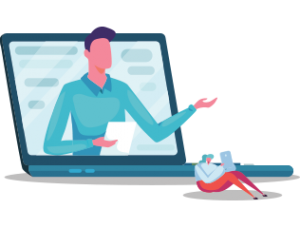 Icone présentation video salons virtuels